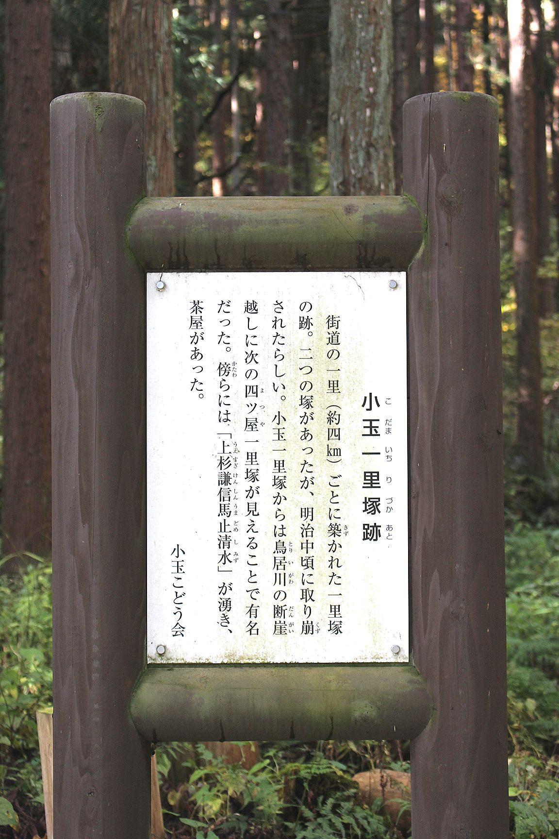 5小玉一里塚(こだまいちりづか)跡